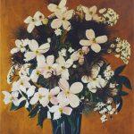 Juni (Blumenstillleben; Acryl auf Molino)