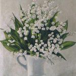 Mai I (Blumenstillleben; Acryl auf Molino)