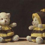 Ölmalerei Kuscheltier Bär
