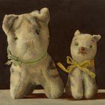 Ölbild Stofftiere Katzen