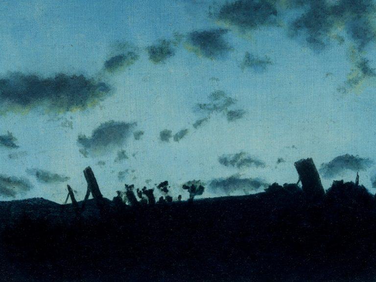 Kunst Malerei Öl altmeisterlich Landschaft Miniatur