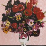 painting, large format, floral still life, acrylic on canvas